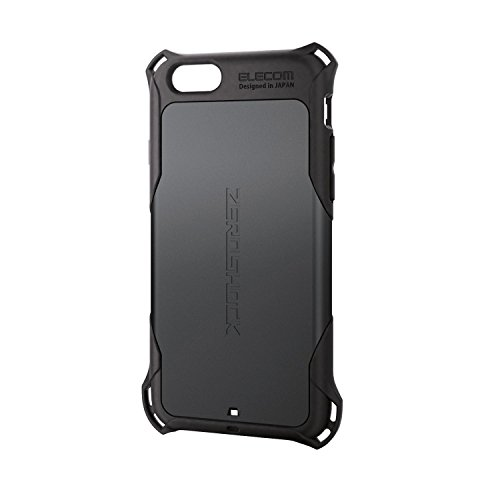 ELECOM iPhone6S iPhone6 ZEROSHOCKケース ブラック PM-A15ZEROBK