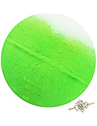 Lime & Coconut Bath Bomb with Jewellery Inside (Surprise 925 Sterling Silver Jewellery Valued at $90 to $5,000) Ring Size 8 - Royal Essence