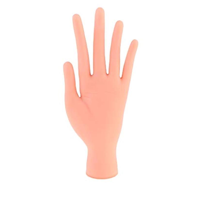 承認する振るう定期的にToygogo 柔軟なソフトプラスチックマネキンモデルハンドネイルアートプラクティスアクセサリー花を描く光線療法の爪とベース