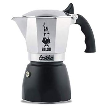 Bialetti Moka New Brikka Espressokocher f/ür 4 Tassen Aluminium