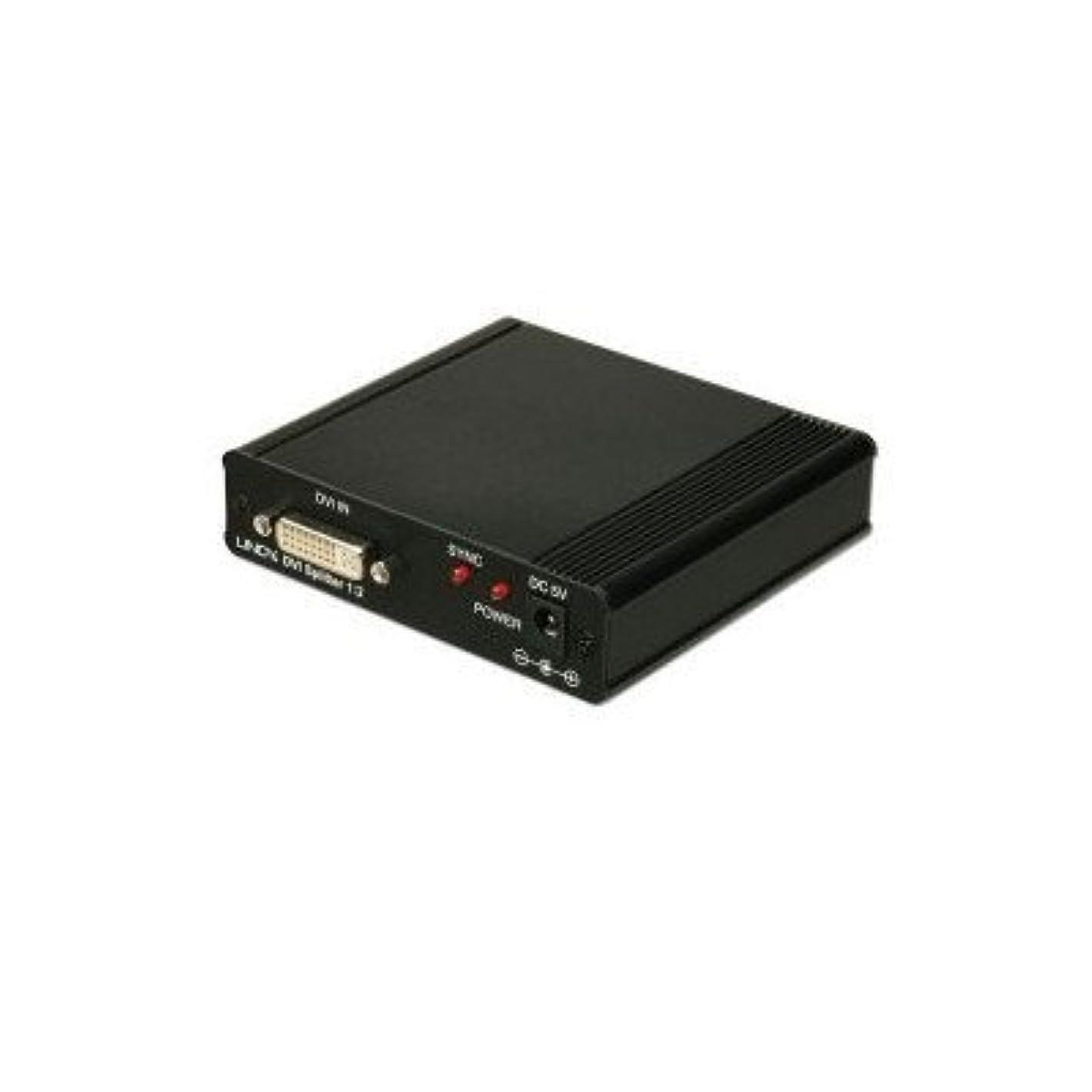 一部夜明けかんがいLINDY 2ポートDVIビデオ信号分配器(型番:32447)