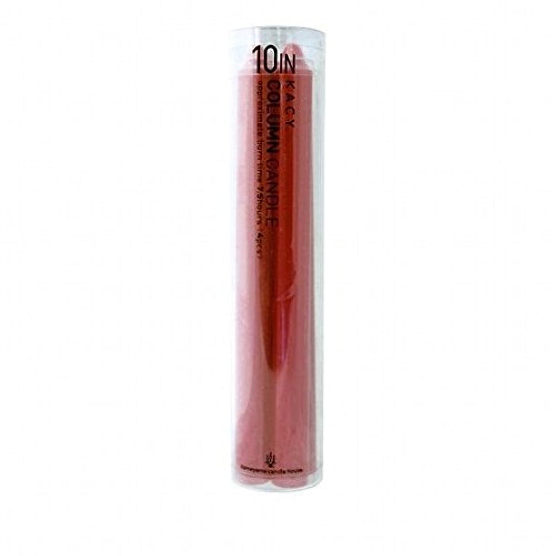 ハッピー侵入胚kameyama candle(カメヤマキャンドル) 10インチコラムキャンドル4本入り 「 レッド 」(A9123100R)