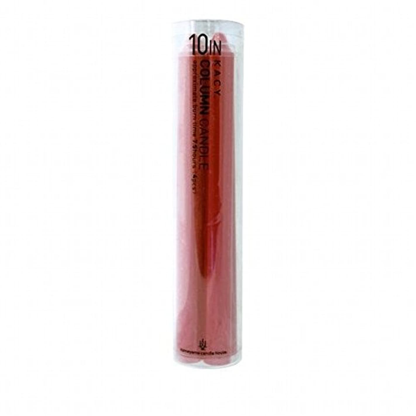 必要ない対応する世論調査kameyama candle(カメヤマキャンドル) 10インチコラムキャンドル4本入り 「 レッド 」(A9123100R)