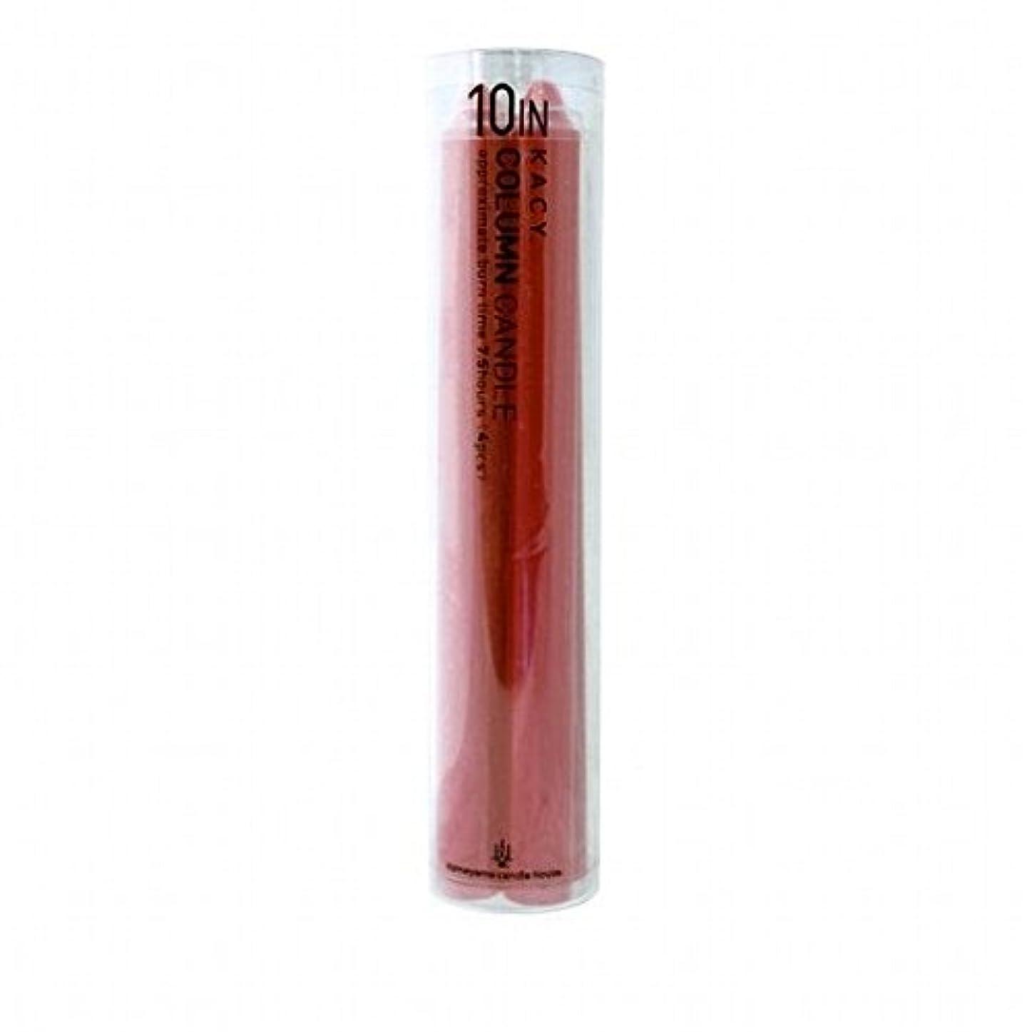 kameyama candle(カメヤマキャンドル) 10インチコラムキャンドル4本入り 「 レッド 」(A9123100R)