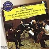 Brahms: Piano Quartet op.25 / Ballades op.10 (1996-05-03)