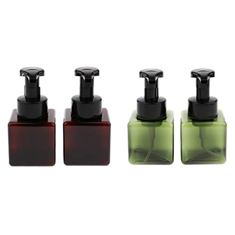 揮発性ボイコットテープB Blesiya 全5色 4個 250ml 泡ポンプボトル 空ボトル 詰替ボトル 小分けボトル ディスペンサー 多用途 - ダークグリーン+ブラウン