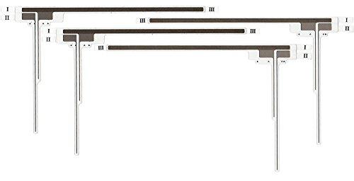 パイオニア カロッツェリア サイバーナビ AVIC-RZ06II 用 フィルムアンテナ 4chセット (両面テープ付) pioneer carrozzeria 楽ナビ