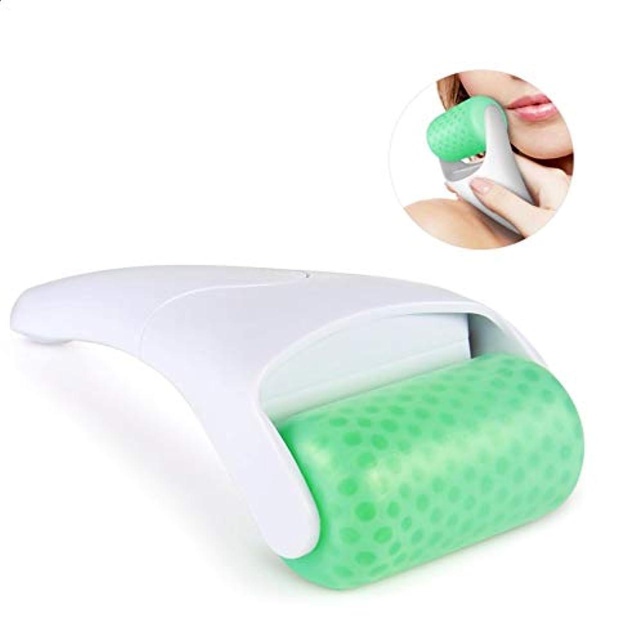 アイスロールフェイシャルリリーフケアローラー擦り傷をするためのリアルナスジェイドボディリラクゼーションアンチエイジングツールでダークサークルとふくらんでいる目の治療のしわを減らす