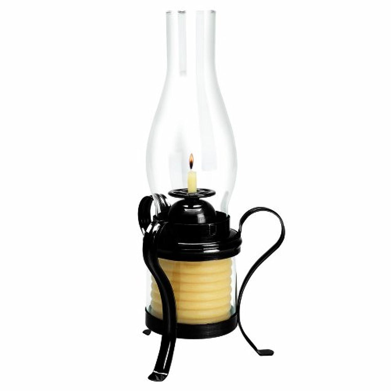 花瓶リーガン玉ハリケーンランプで時間20625B 40時間コイルキャンドルことでキャンドル - ブラック