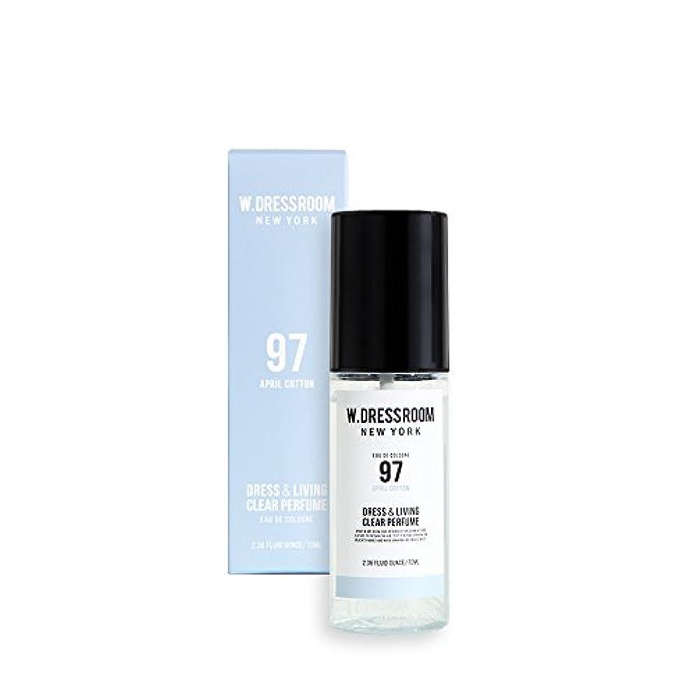 牛中性チートW.DRESSROOM Dress & Living Clear Perfume 70ml/ダブルドレスルーム ドレス&リビング クリア パフューム 70ml (#No.97 April Cotton) [並行輸入品]