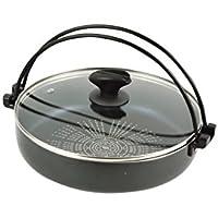 パール金属(PEARL METAL) すき焼き鍋 26cm IH対応 ガラス蓋付 ブルーダイヤモンドコート NEW 贅の極み HB-3257
