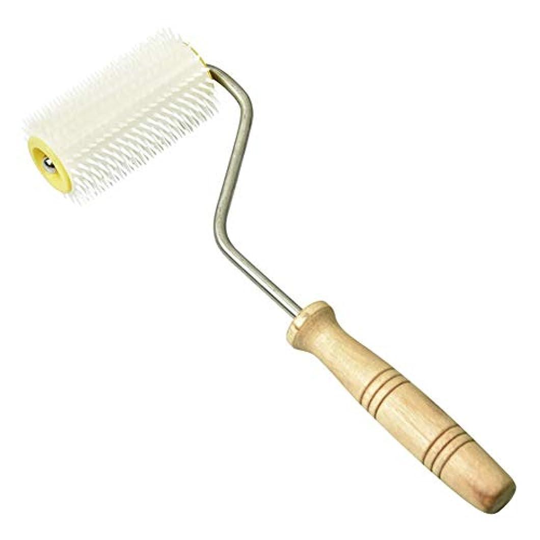 ベアリング適切に提案するFuntoget  蜂蜜抽出ツール、プラスチック針、養蜂蜂の開梱、密な針、プラスチック製の白い針ローラー蜂蜜抽出ツール32cm開梱フォーク