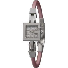GUCCI (グッチ) 腕時計 102P パヴェダイヤ YA102523 ピンク サテン革 [並行輸入品] レディース