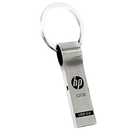 HP USBメモリ 32GB USB 3.0 シルバー キーホルダーデザイン 金属製 耐衝撃 防滴 防塵 のフラッシュドライブ x785w HPFD785W-32