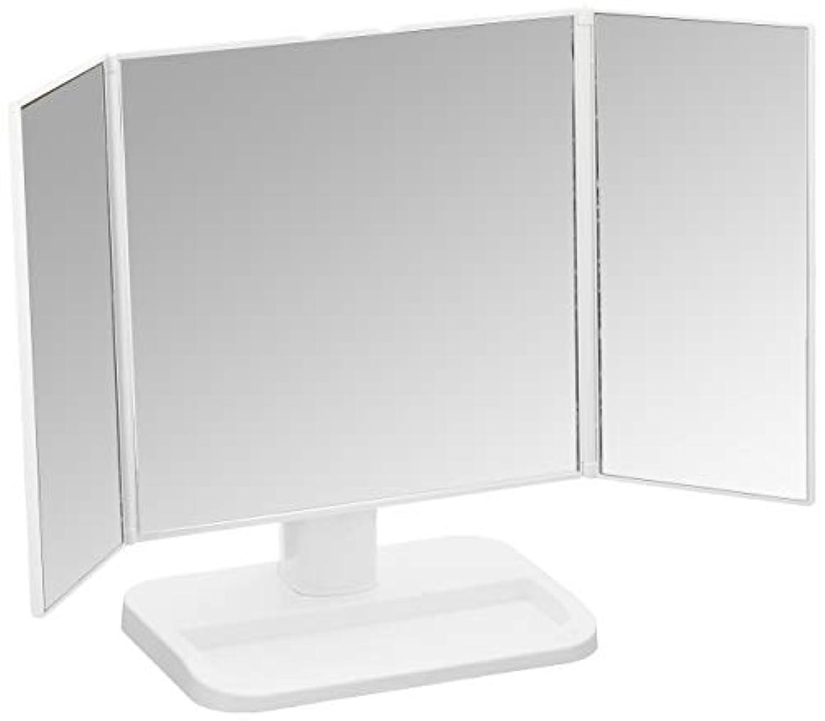 前述の蘇生する苦しめる永井興産 メイクアップミラー 三面鏡 ホワイト NK-242(WH)