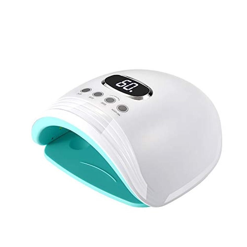流体召喚するエスカレート60W UV LEDネイルランプネイルドライヤー+ホワイトニングランプ、1 in 2プロフェッショナルケアドライヤー、スマートオートセンシング付きゲルパイプビルダー3タイマー設定LCDディスプレイ