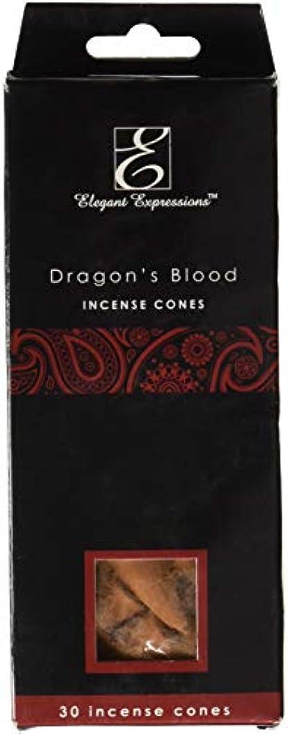 彫るダーツ悪のElegant Expressions ドラゴンブラッド 香り付きコーン型お香 180個パック エッセンシャルオイルを充填した手香り。