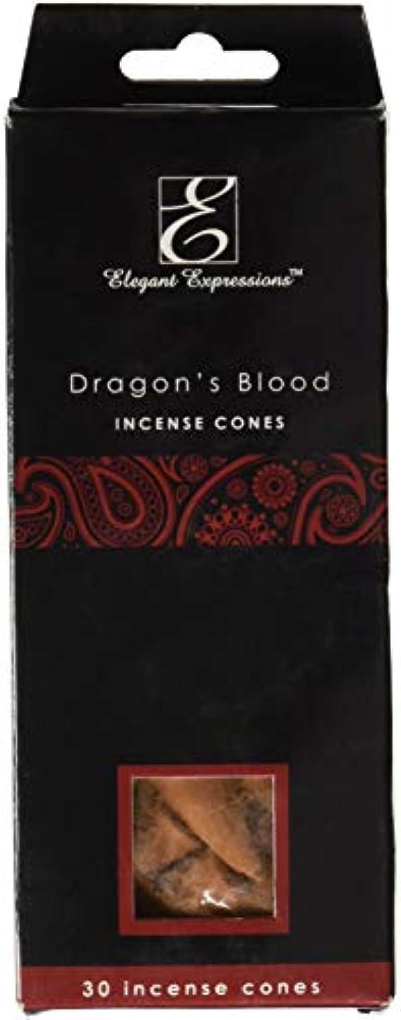 せがむ雪思想Elegant Expressions ドラゴンブラッド 香り付きコーン型お香 180個パック エッセンシャルオイルを充填した手香り。