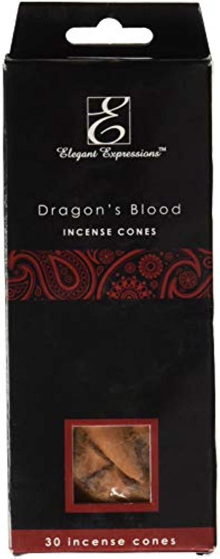 緩やかなリフト湿度Elegant Expressions ドラゴンブラッド 香り付きコーン型お香 180個パック エッセンシャルオイルを充填した手香り。