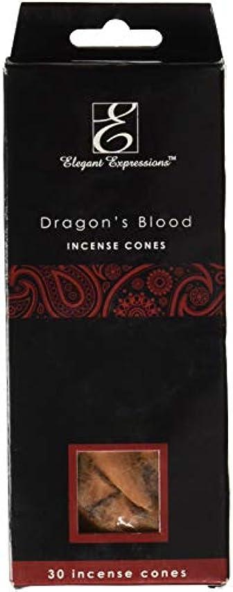 場合オフオーロックElegant Expressions ドラゴンブラッド 香り付きコーン型お香 180個パック エッセンシャルオイルを充填した手香り。
