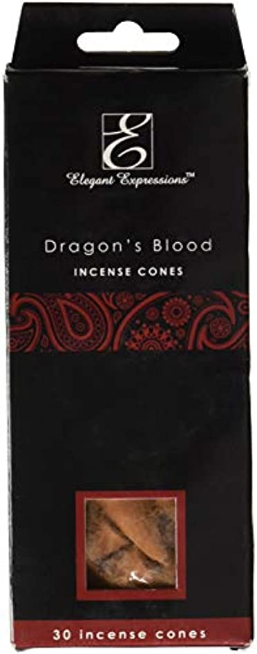 豊かな優先権損失Elegant Expressions ドラゴンブラッド 香り付きコーン型お香 180個パック エッセンシャルオイルを充填した手香り。