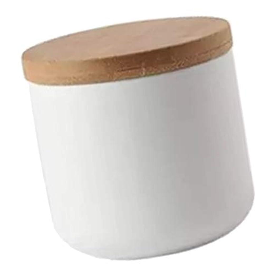 微視的教育原子Toygogo アクリル ネイル用ツール ネイルリキッド パウダー コンテナ 収納ポット セラミック製 200ML 全2色 - 白い