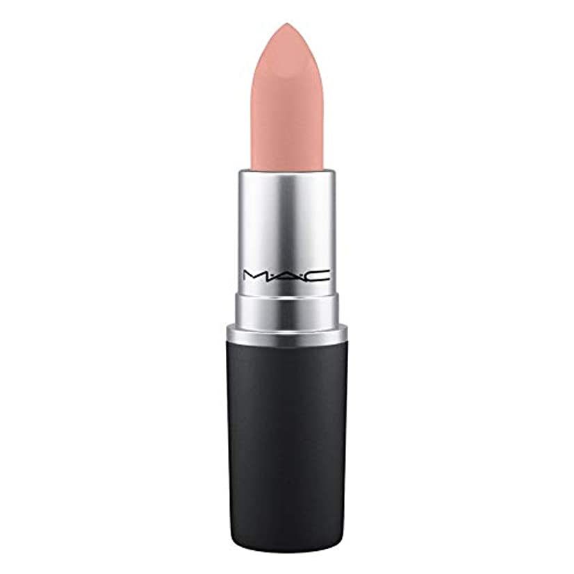 膿瘍契約静かにMAC Powder Kiss Lipstick Influentially It (nude beige)