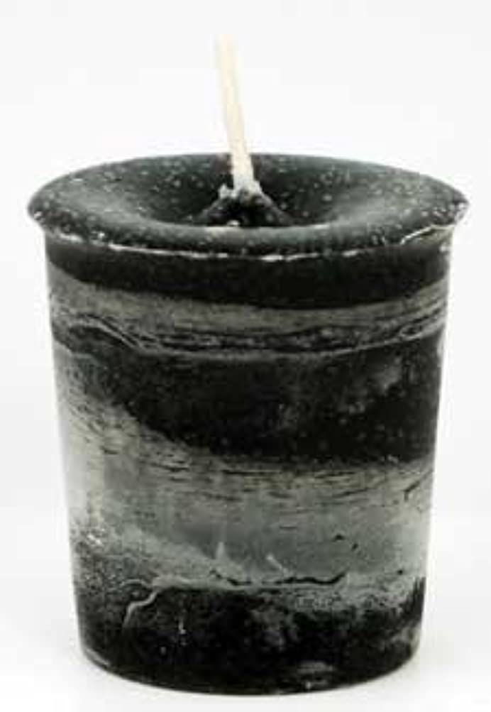 ファセット待って資源AzureGreen CVHPRT Protection Herbal Votive Candle in Black