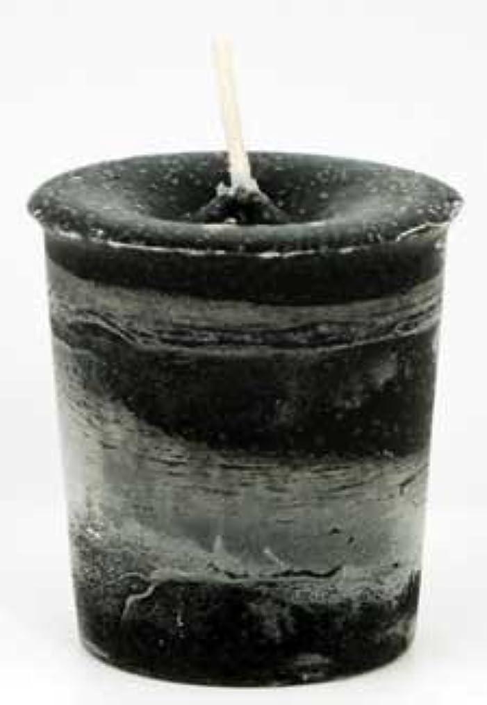 輸血部分的AzureGreen CVHPRT Protection Herbal Votive Candle in Black