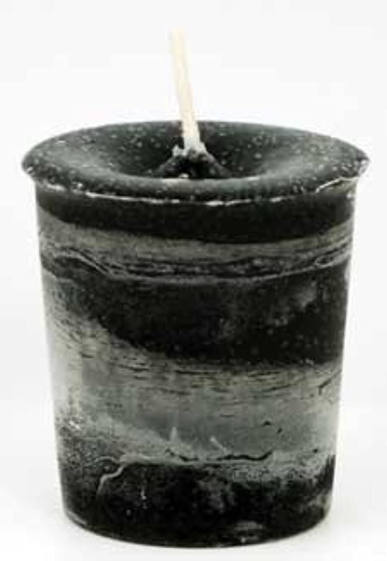AzureGreen CVHPRT Protection Herbal Votive Candle in Black