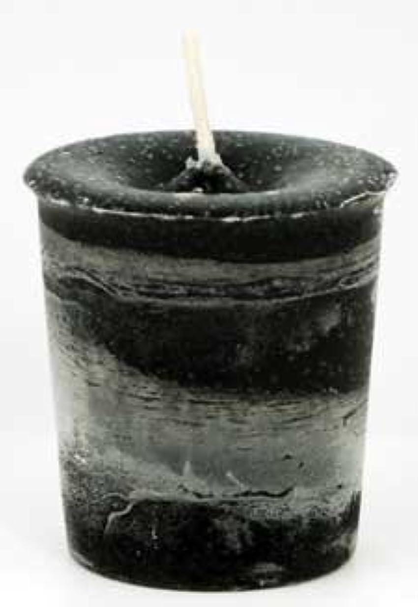 混乱スリーブ輝くAzureGreen CVHPRT Protection Herbal Votive Candle in Black