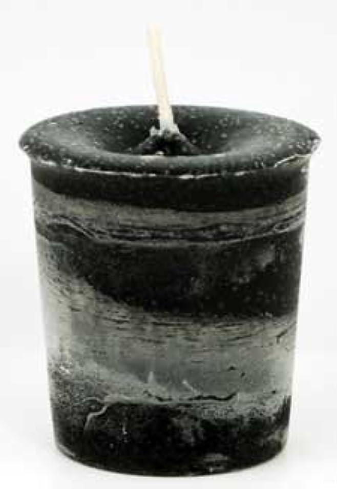 備品社説噛むAzureGreen CVHPRT Protection Herbal Votive Candle in Black