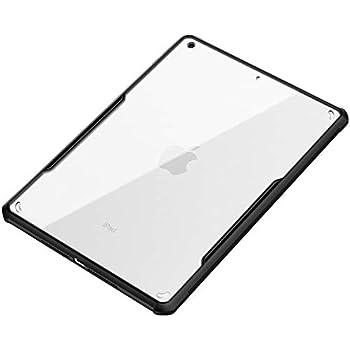 iPad Air 2019 / iPad Pro 10.5 ケース iPad Air3 10.5インチ ハード ハイブリッド TPU + ポリカーボネート 二重構造 耐衝撃 衝撃吸収 放熱仕様 クリア 透明 ストラップホール付き 軽量 薄型 (ブラック)