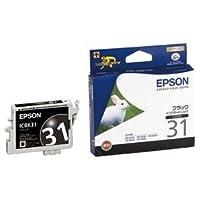 (まとめ) エプソン EPSON インクカートリッジ ブラック ICBK31 1個 【×4セット】