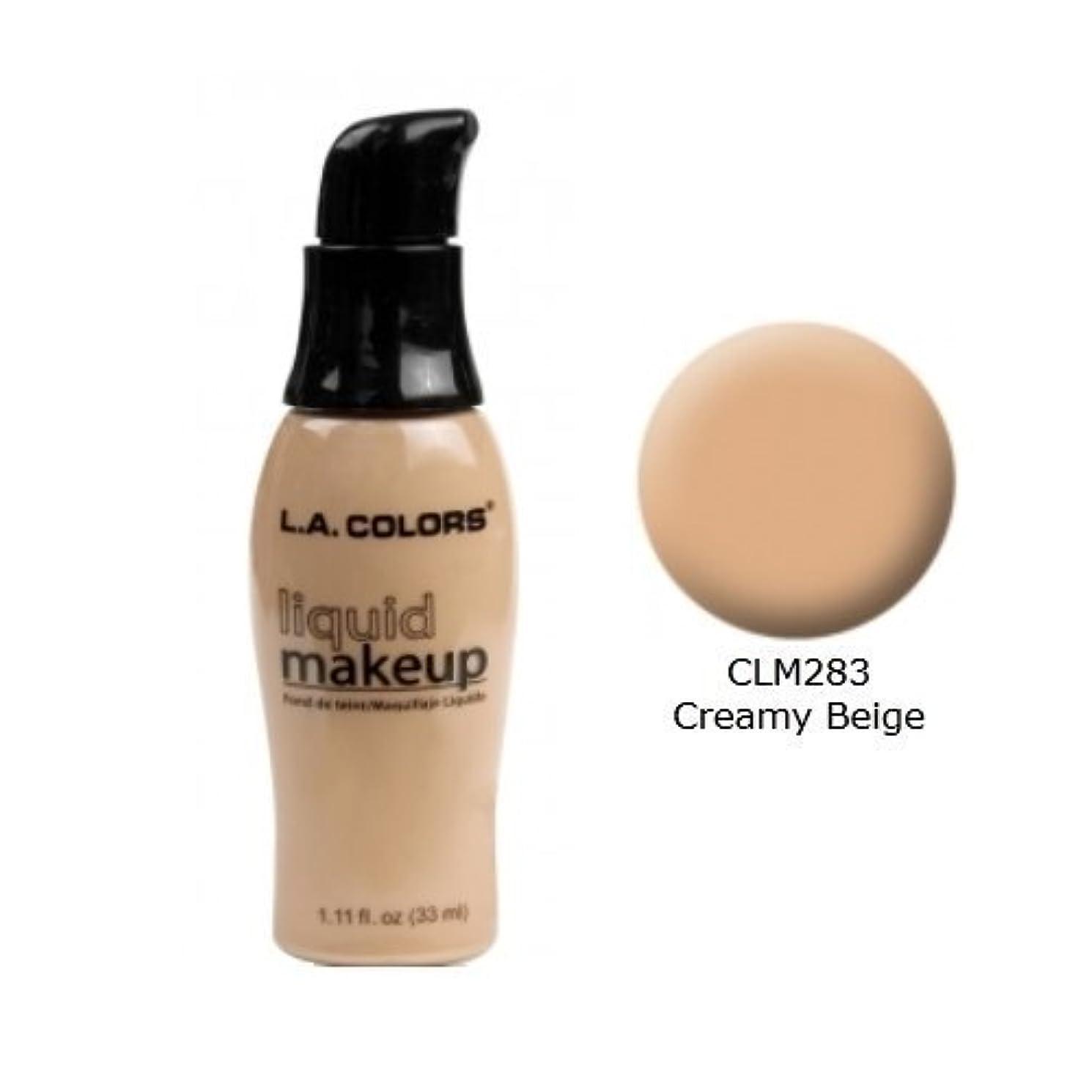 請願者ナサニエル区押し下げるLA COLORS Liquid Makeup Creamy Beige (並行輸入品)