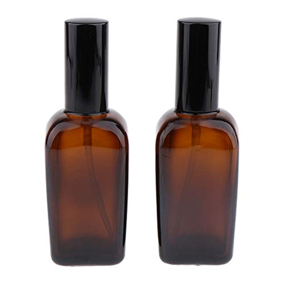 植物学者黒板申込みT TOOYFUL 旅行のための香水のにおいの精油のための2pcsこはく色のガラススプレーのびん - 100ml
