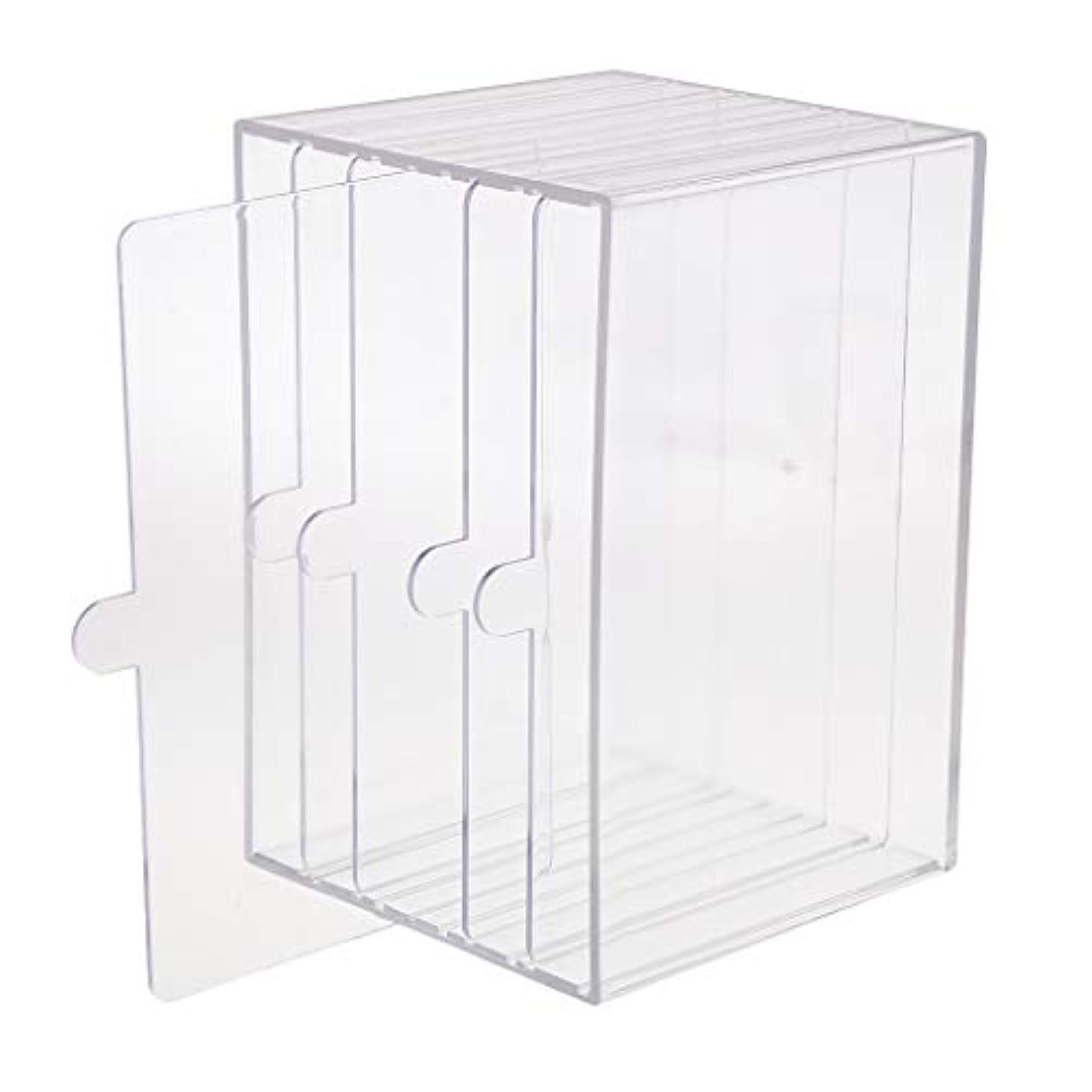 知り合いになる量で錆びchiwanji ネイルチップ ディスプレイ 収納ボックス 小物入り 収納容器 ディスプレイケース