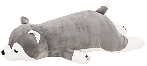 りぶはあと 抱きまくらL ハスキー犬のミント W67xD28xH18cm プレミアムねむねむアニマルズ 48768-72