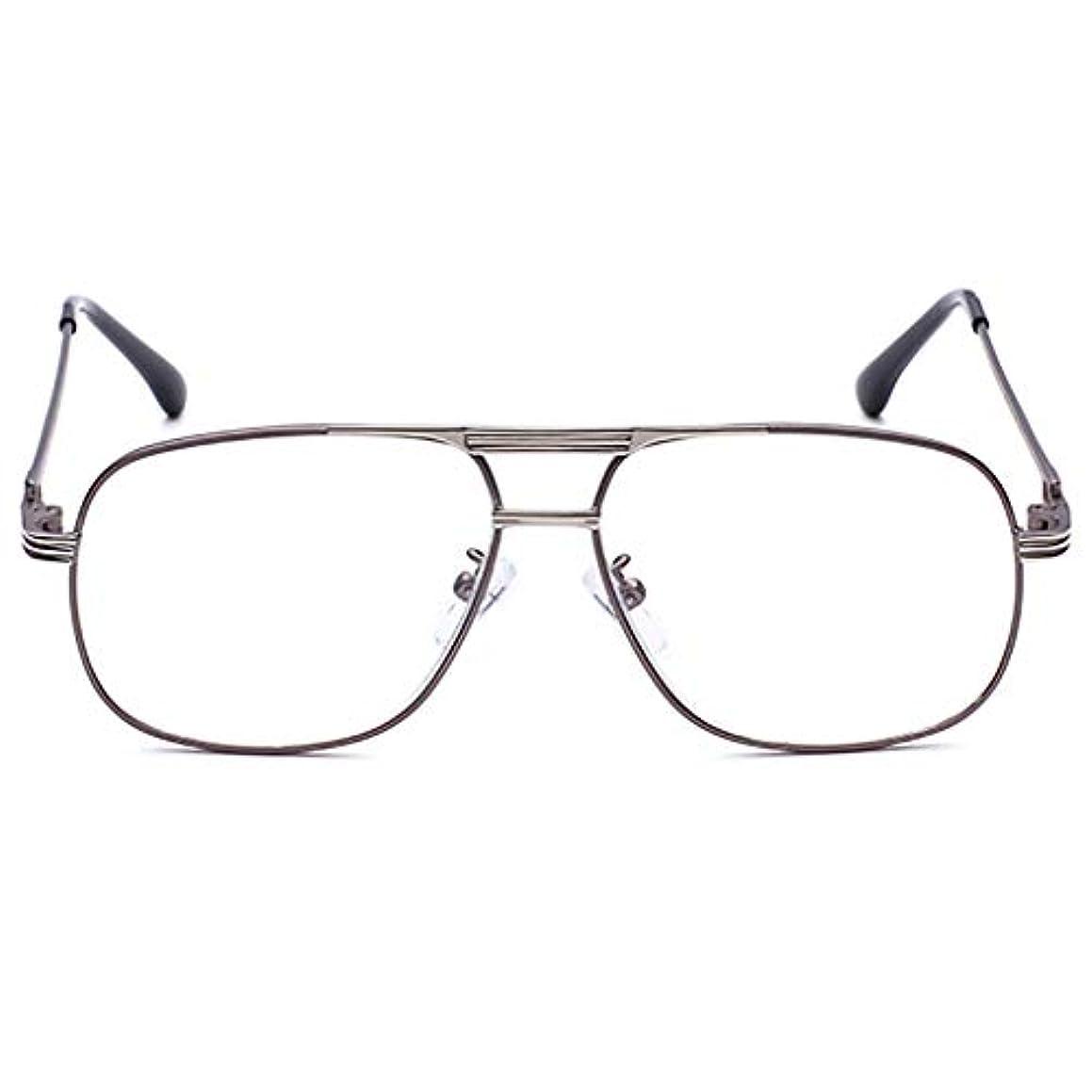 超音速簡潔な注文男性と女性のための老眼鏡ファッションヴィンテージスクエアd金属フレーム高精細PCレンズ安全メッキメガネクロスとメガネケースで快適+ 1.0、+ 2.0、+ 3.0ジオプター