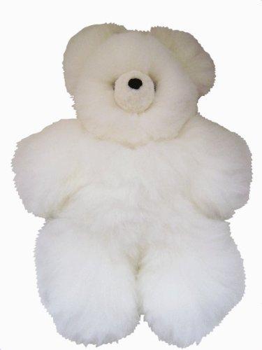 RoomClip商品情報 - White Alpaca アルパカ テディベア - Baby Alpaca アルパカ Fur - - 15 インチ ぬいぐるみ(並行輸入品)