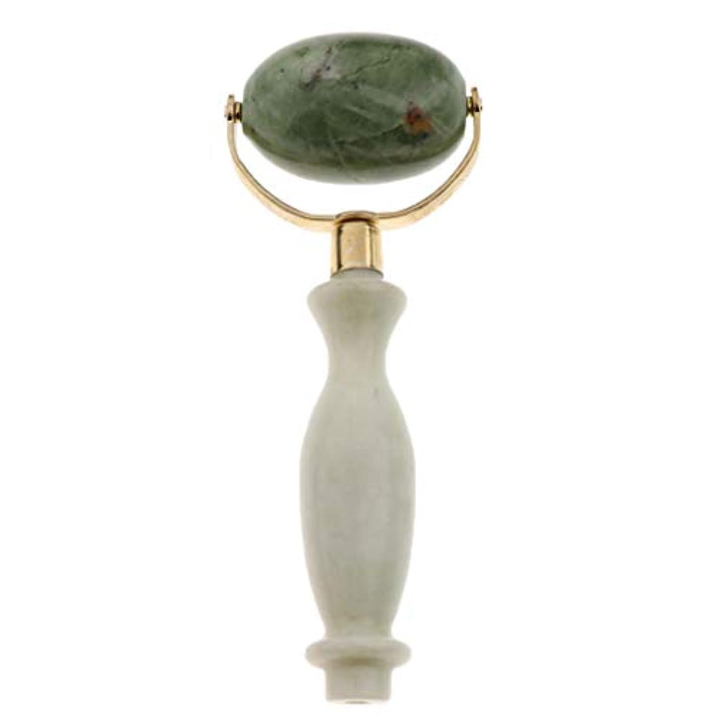 致命的なくぼみ舗装美容ローラー 美顔ローラー フェイシャル マッサージ 美顔器 美肌 天然 翡翠石 2種選ぶ 健康 - スタイル2