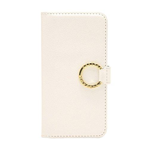 [CASEBANK] リング付き 手帳 ケース iPhone6/iPhone6s 4.7インチ 落下防止 実用新案取得済 スマホ カバー (ホワイト) RING-01-White