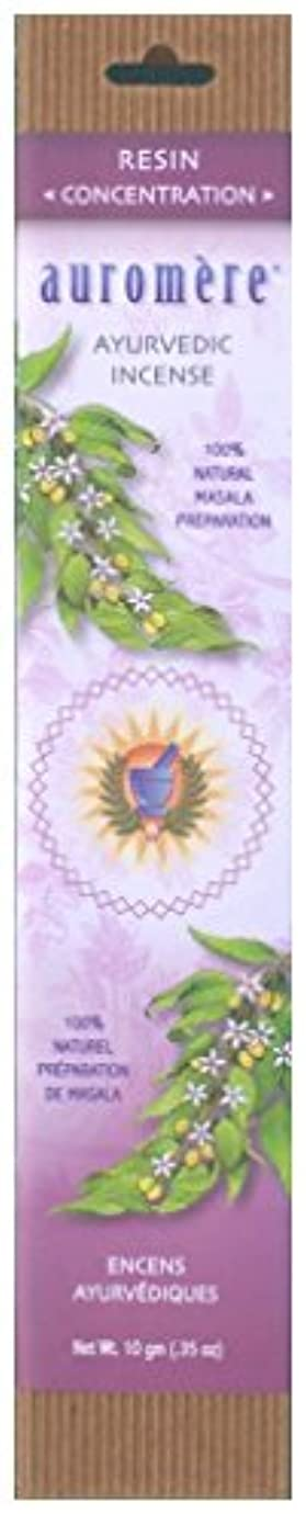虎ほのめかす変色するAuromere Ayurvedic Incense、樹脂( Concentration )