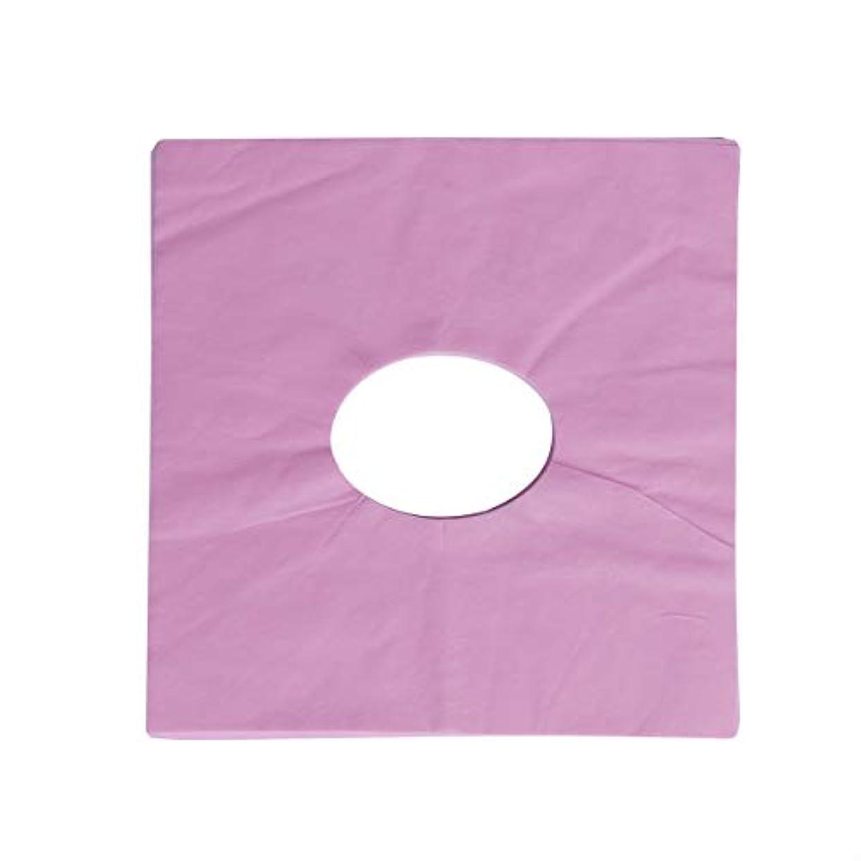 メンテナンス目の前の反映するHealifty 100ピース使い捨てマッサージフェイスクレードルカバーフェイスマッサージヘッドレストカバースパ用美容院マッサージ(ピンク)