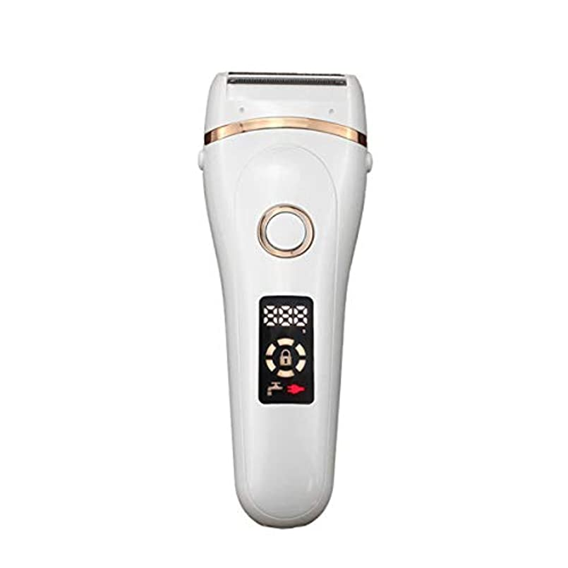 違反する前部振幅電気女性カミソリLCDスクリーン、USB充電式女性脱毛器フルボディトリマー脱毛、ミニポータブル