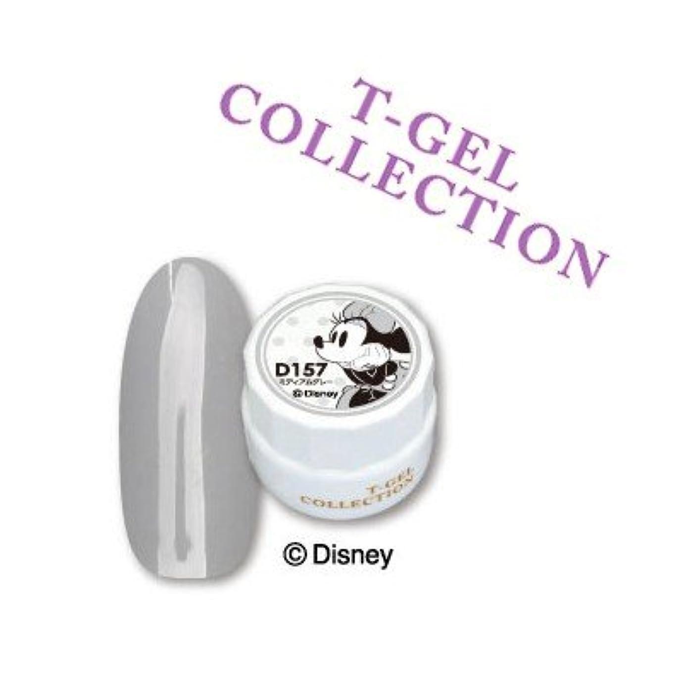 鑑定不足時刻表T-GEL COLLECTION カラージェル D157 ミディアムグレー 4ml
