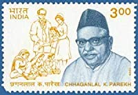 Chhaganlal .K. Parekh Personality India's March Towards Progress and Development Rs.3 Indian Stamp