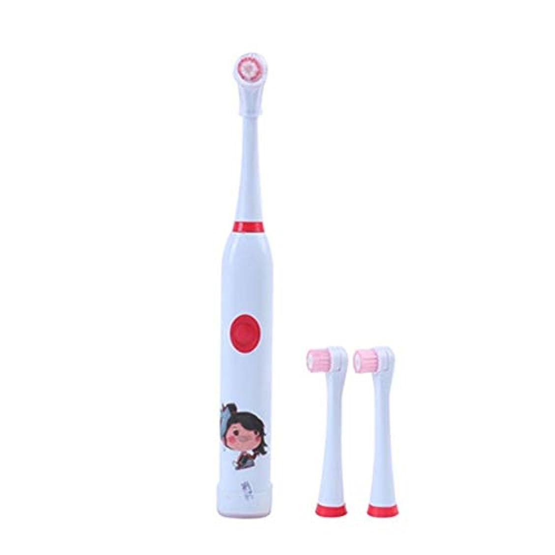 陸軍悪意パイロット電動歯ブラシ 毎日の使用のための子供の電動歯ブラシUSB充電式ホワイトニング歯ブラシ 大人と子供向け (色 : 赤, サイズ : Free size)
