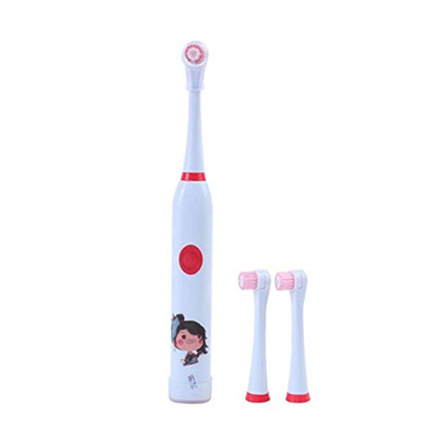先史時代の贈り物闘争電動歯ブラシ 毎日の使用のための子供の電動歯ブラシUSB充電式ホワイトニング歯ブラシ 大人と子供向け (色 : 赤, サイズ : Free size)