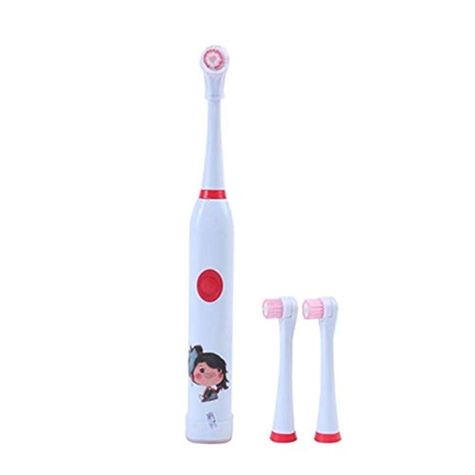 効率的アシスタント反対する電動歯ブラシ 毎日の使用のための子供の電動歯ブラシUSB充電式ホワイトニング歯ブラシ 大人と子供向け (色 : 赤, サイズ : Free size)